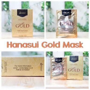 Gold Masker Lumpur Emas Naturgo Hanasui Bpom Anti Aging jual hanasui gold peel masker wajah bpom pemutih surabaya