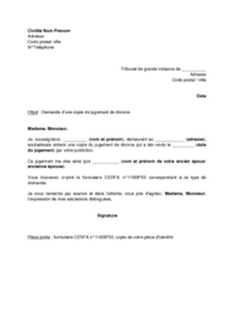 Présentation Lettre Officielle Copie à L Acte De Divorce Comment L Obtenir Divorce Malin