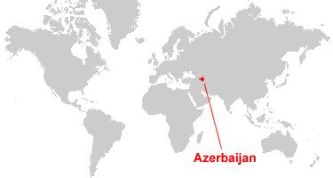 baku on world map azerbaijan map and satellite image