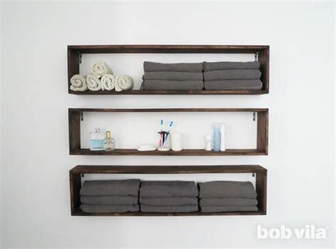wall shelves for bathroom diy wall shelves in the bathroom tutorial bob vila