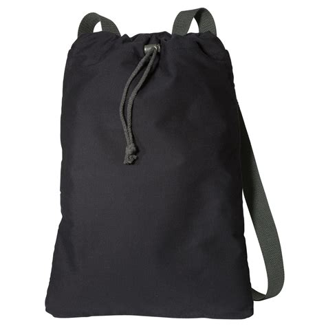 b119 form port authority b119 canvas cinch pack black charcoal