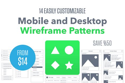 design pattern libraries for desktop mobile software 14 easily customizable mobile and desktop wireframe