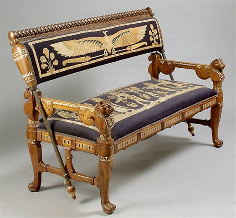egyptian sofa set egyptian revival four piece carved inlaid living room