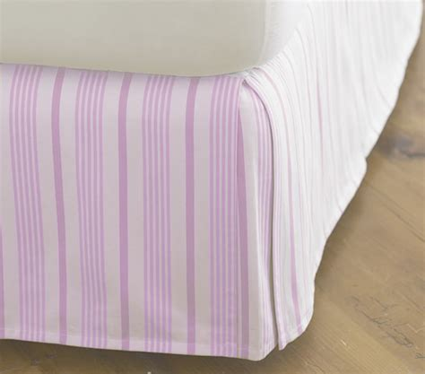 lavender bed skirt isabelle striped bed skirt lavender twin pottery barn kids