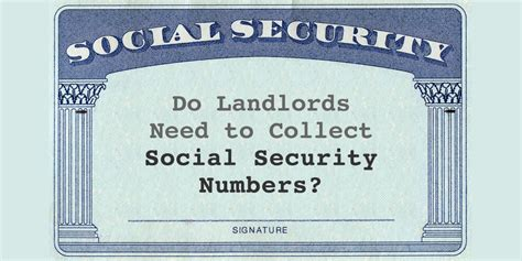 Does Target Require Social Security To Apply For A Do Landlords Need To Collect Social Security Numbers