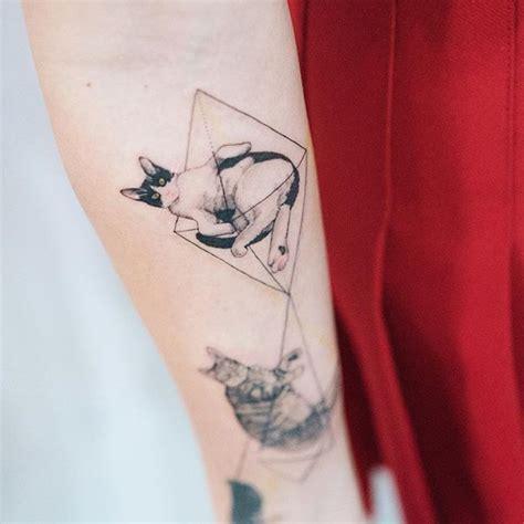 tattoo cat geometric cat geometric tattoo pinterest tattoo tattos and