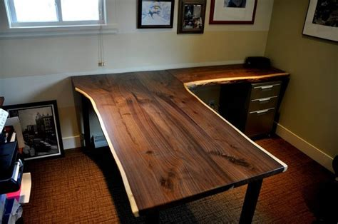 live edge computer desk stunning handmade wooden desk hometalk pinterest