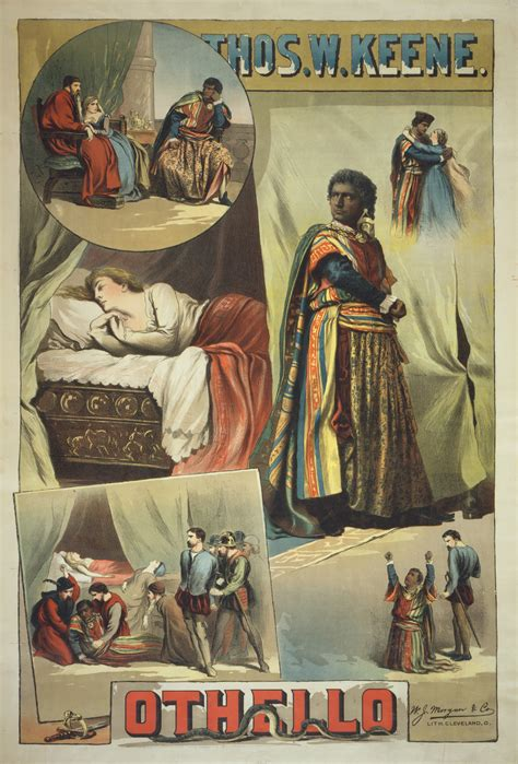 themes in othello by william shakespeare file thomas keene in othello 1884 poster jpg wikipedia