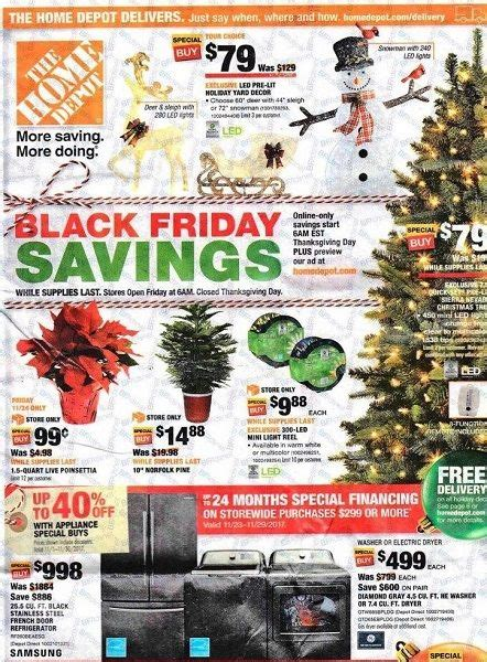 home depot black friday ad scan 2017 99 162 poinsettas aa