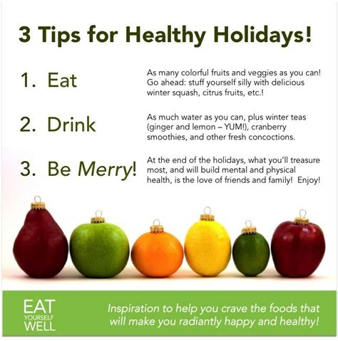12 Tips On What You Eat During Holidays by Healthy Tips Eat Yourself Well