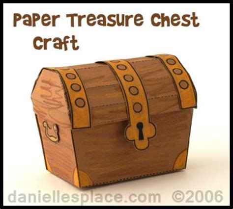 How To Make A Paper Treasure Chest - best 25 treasure chest craft ideas on pirate