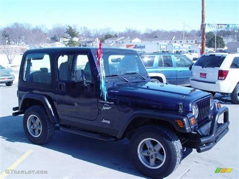 1998 lapis blue jeep wrangler sport 4x4 25999780 photo 3 gtcarlot car color galleries
