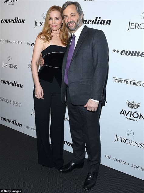 leslie mann husband movie leslie mann and judd apatow attend her film s screening