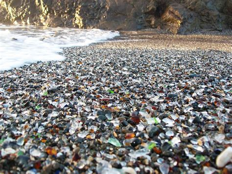 beach of glass glass beach fort bragg california pattazhy
