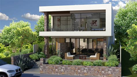 narrow contemporary house plans modern house plans narrow sloping lots daylight basement home designs ideas for