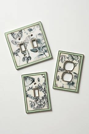 Decoupage Switch Plates - decoupage butterflies outlet covers