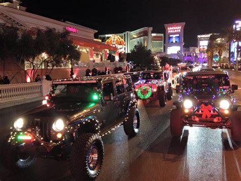 jeep christmas parade 3rd annual lighted jeep parade las vegas youtube