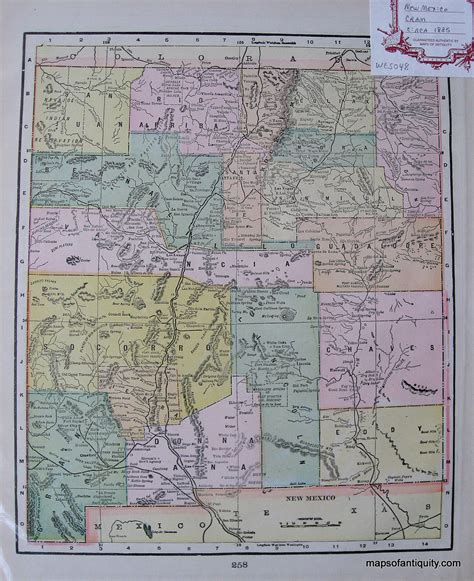 united states map new mexico new mexico sold antique maps and charts