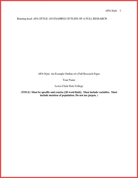 Apa Title Page Format For Research Paper by Apa Format Title Page 2016 Memo Exle