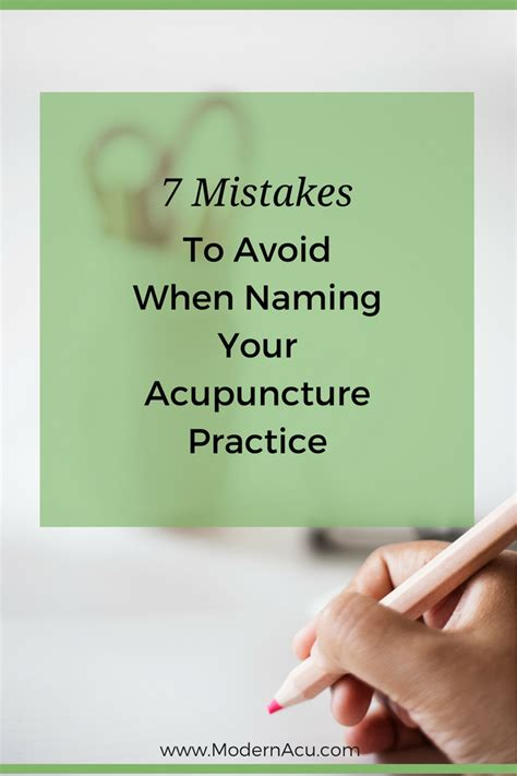 7 Mistakes Make At And How To Avoid Them by 7 Mistakes To Avoid For Your Acupuncture Practice Name