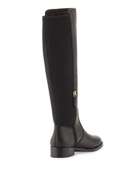burch black boots burch selden pebbled leather boots in black lyst