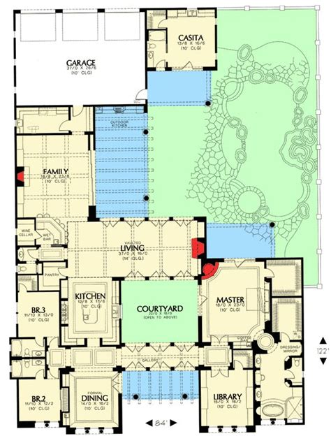 mediterranean home plans with courtyards 17 best ideas about mediterranean house plans on pinterest