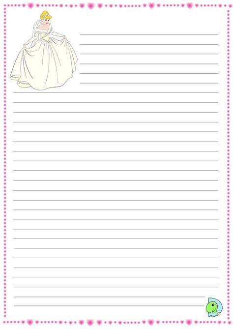 cinderella writing paper cinderella writing paper dinokids