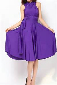 plum short bridesmaid dress infinity dress convertible