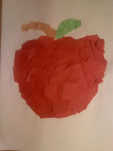 Apple Paper Craft - crafts for preschoolers apple craft for preschoolers