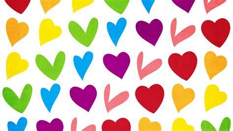 colorful love wallpaper hd wallpaper love hearts colorful hd love 6125