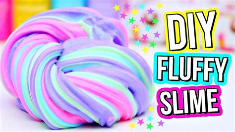 membuat rainbow slime diy fluffy slime how to make the best slime youtube