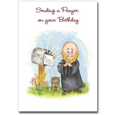 Birthday Cards For Catholic Priests Sending A Prayer On Your Birthday Birthday Card