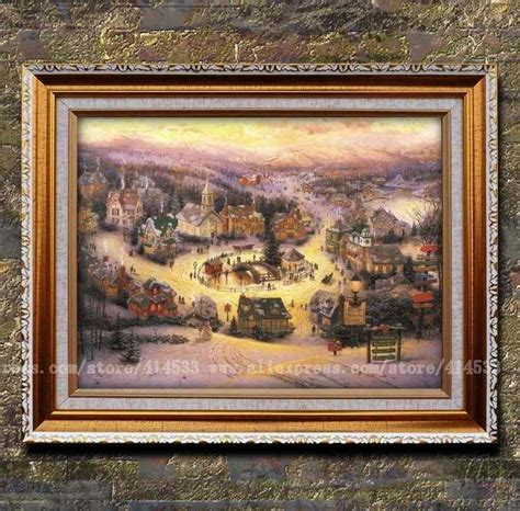 kinkade canvas print of painting st nicholas