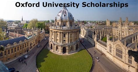 The Of Oxford Mba by Oxford Fully Funded Scholarships For Developing
