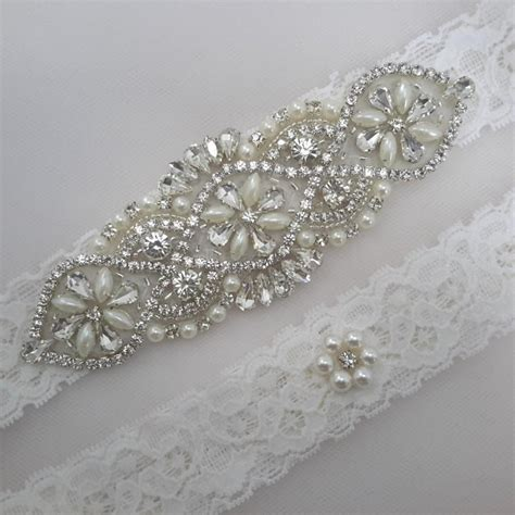 Set Garter bridal garter wedding garter set garter set ivory