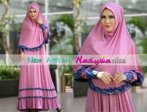 Jilbab Najwa Size Xl aisyah by nasywa baby pink baju muslim gamis modern