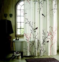 bathroom shower curtain sets bird and branch patterned shower curtains sets