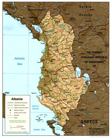 map of albania nationmaster maps of albania 17 in total
