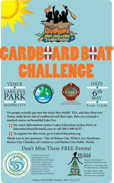 cardboard boat race lakeland florida lakes education action drive quot dedicated to preserving