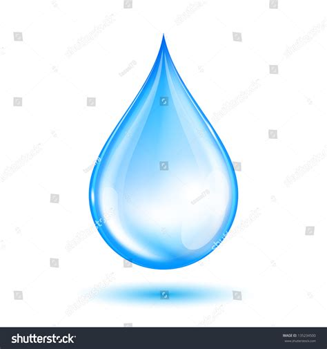 a drop in the blue shiny water drop vector illustration stock vector 135234500 shutterstock