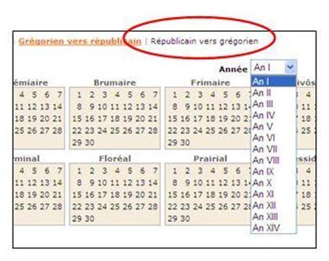 Comparaison Calendrier Gregorien Et Republicain Le Calendrier R 233 Publicain Mode D Emploi D Archives En