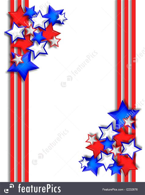 stars  stripes border illustration