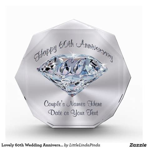 Lovely 60th Wedding Anniversary Gifts PERSONALIZED   Best