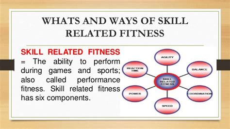 skills related fitness