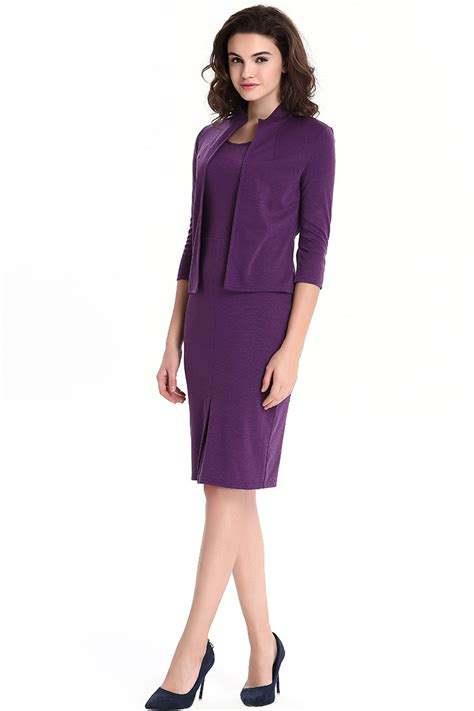 Bodycon Dress Winter jhonpeter s two winter warm bodycon dress with jacket dress purple jhonpeters