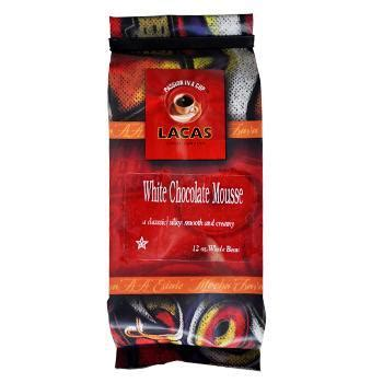 Chocolate Mousse Coffee Bean lacas white chocolate mousse coffee beans 12oz bag lacas