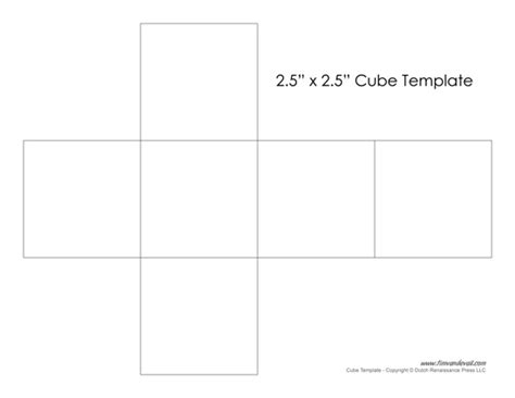 How To Make Paper Cubes - printable paper cube template learn how to make a cube