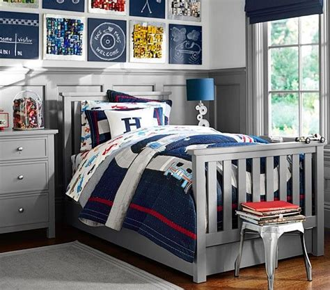 pottery barn boys bedding cruising in the elliott bed on their way to a good night