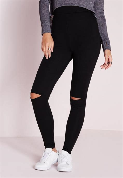 Legging Ripped ripped knee black missguided