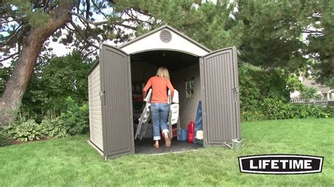 lifetime    foot outdoor storage shed model